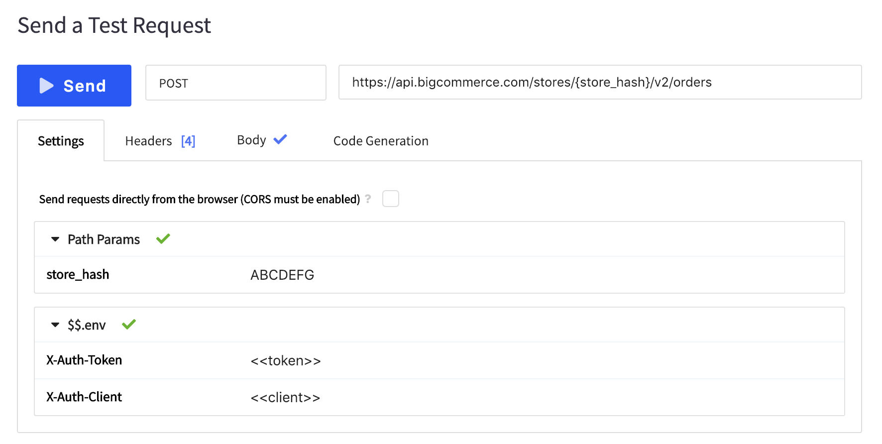BigCommerce interactive documentation