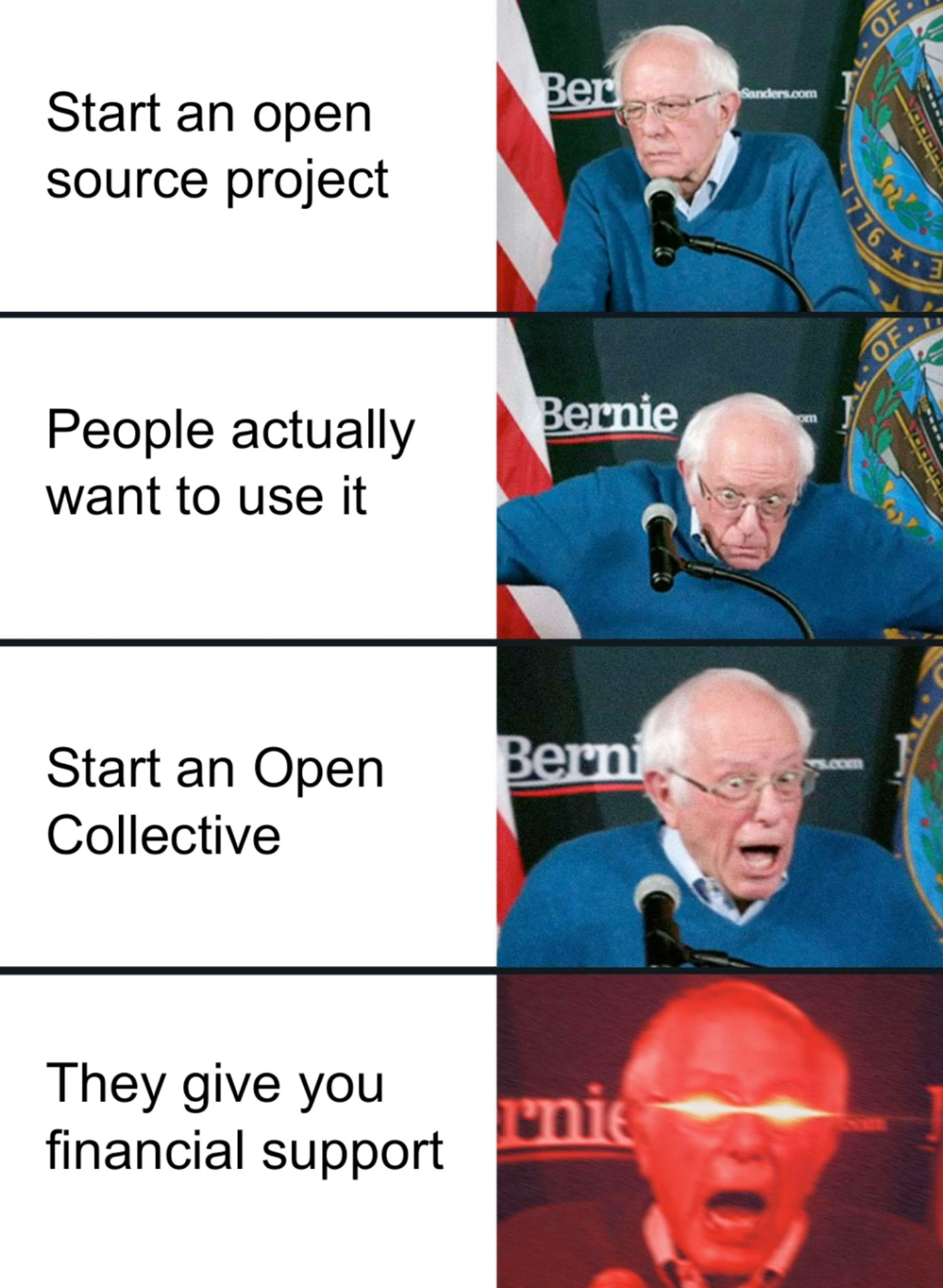 Supporting Open-Source Meme by @markdalgleish